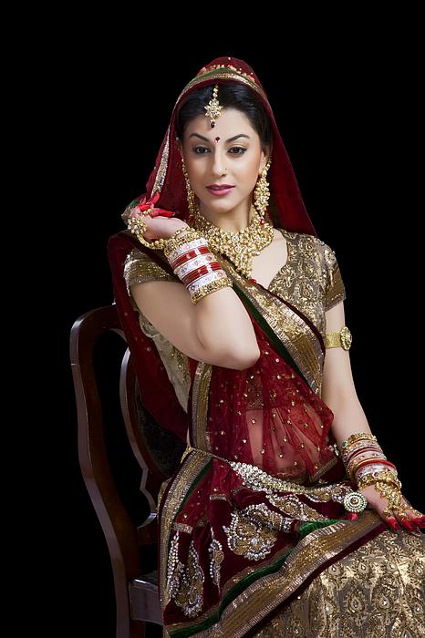 Portrait of a beautiful bride Photograph by Sudipta Halder