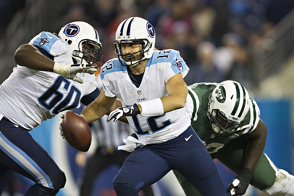 New York Jets v Tennessee Titans Photograph by Wesley Hitt