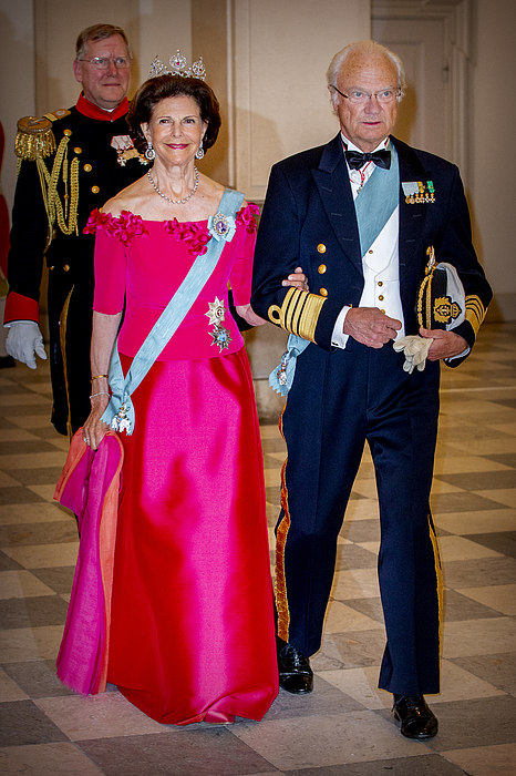 Crown Prince Frederik of Denmark Holds Gala Banquet At Christiansborg Palace Photograph by Patrick van Katwijk
