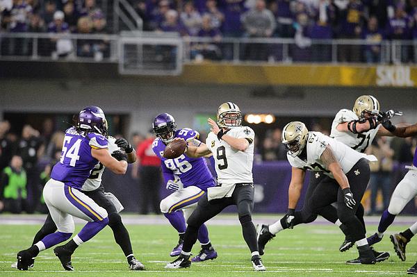 Divisional Round - New Orleans Saints v Minnesota Vikings Photograph by Hannah Foslien