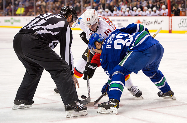 Calgary Flames v Vancouver Canucks Photograph by Rich Lam