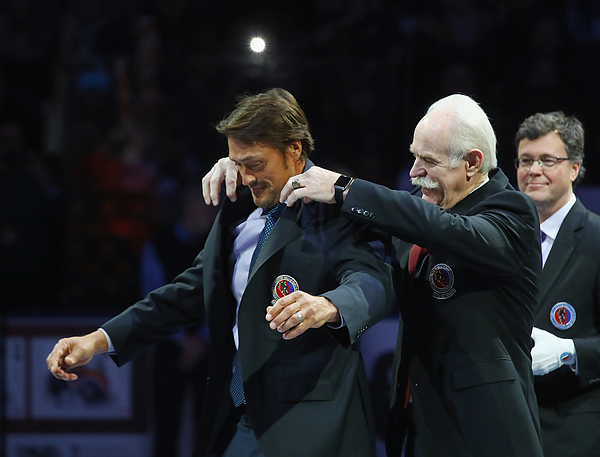 2016 Hockey Hall Of Fame Induction - Legends Classic Photograph by Bruce Bennett