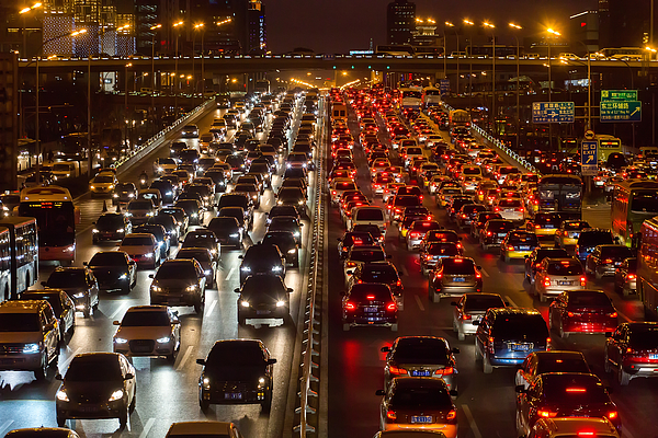 Beijing traffic congestion Photograph by DuKai photographer