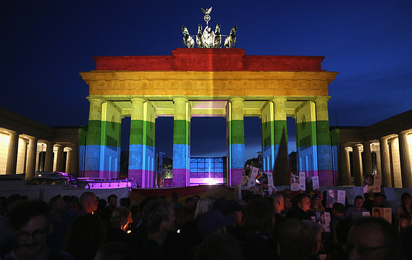 Berliners Hold Evening Vigil For Orlando Massacre Victims Photograph by Adam Berry