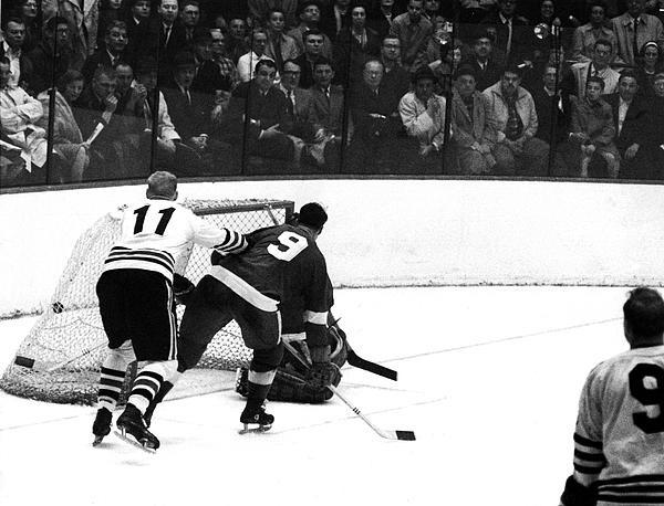 Chicago Blackhawks v Detroit Red Wings Photograph by B Bennett