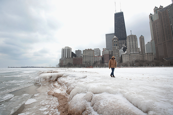 Chicagos Deep Freeze Continues With Single Digit Temperatures Photograph by Scott Olson