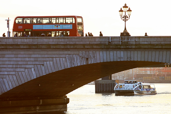 Commuters Use New High-Speed Catamaran Clippers Operated By MBNA Thames Clippers Photograph by Bloomberg
