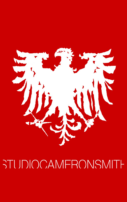 Logo Digital Art - Eagle Studio Logo, white, custom background by Cameron Smith