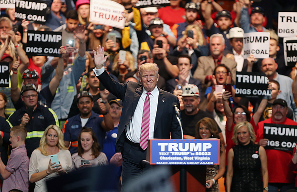 Donald Trump Holds Campaign Rally In Charleston, WV Photograph by Mark Lyons