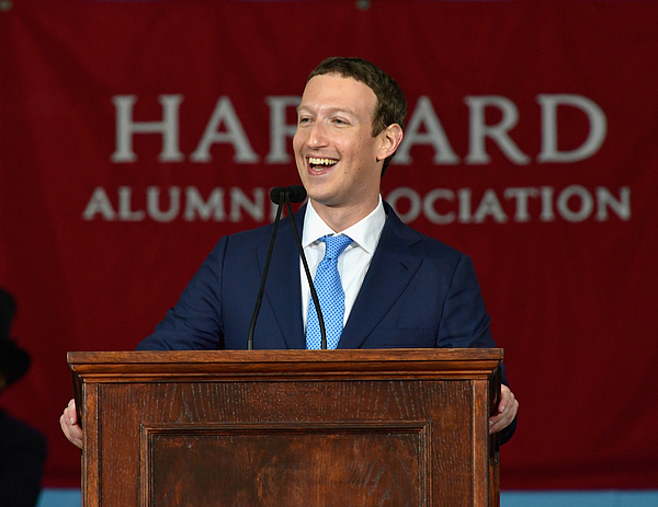 Facebook Founder Mark Zuckerberg Delivers Commencement Address At Harvard Photograph by Paul Marotta