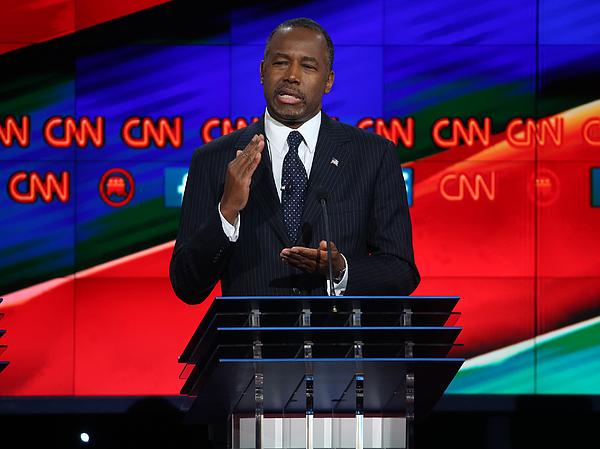 GOP Presidential Candidates Debate In Las Vegas Photograph by Justin Sullivan