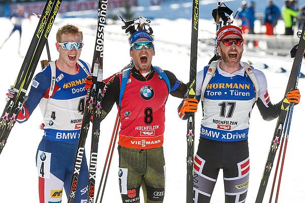 IBU Biathlon World Championships - Mens and Womens Mass Start Photograph by Stanko Gruden/Agence Zoom