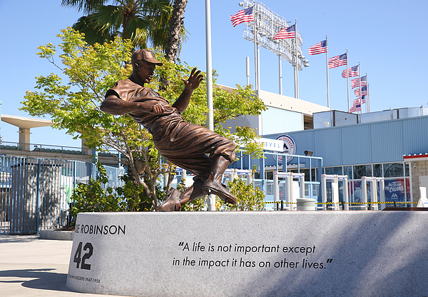 Jackie Robinson Photograph by Victor Decolongon