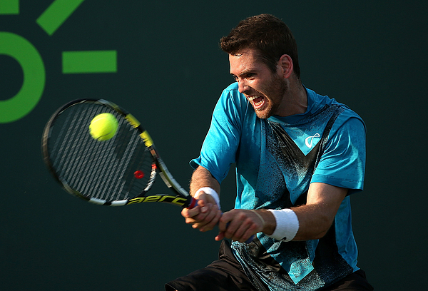 Miami Open Tennis - Day 3 Photograph by Mike Ehrmann