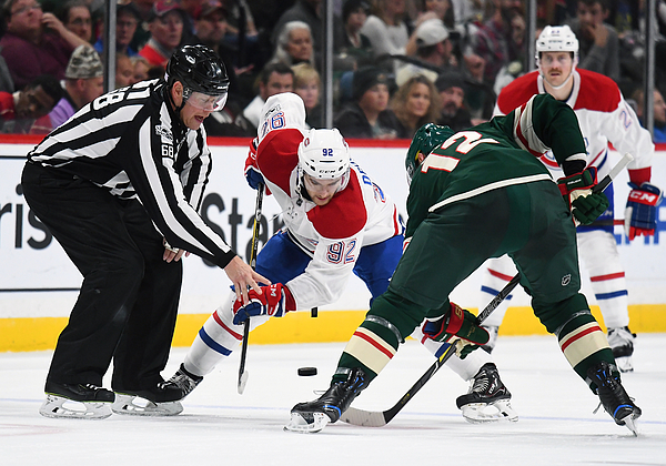 NHL: NOV 02 Canadiens at Wild Photograph by Icon Sportswire
