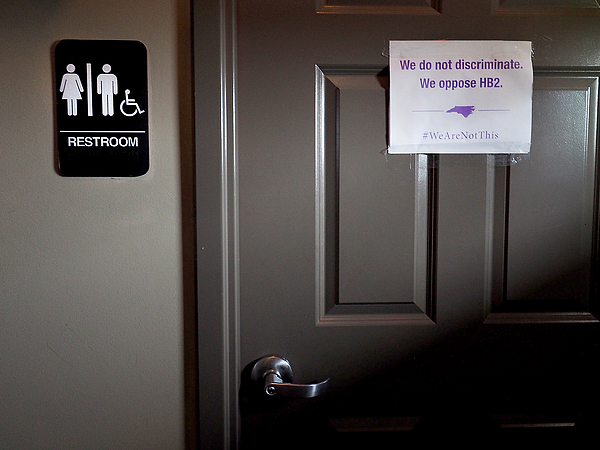North Carolina Clashes With U.S. Over New Public Restroom Law Photograph by Sara D. Davis