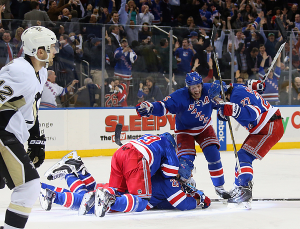 Pittsburgh Penguins v New York Rangers - Game Five Photograph by Bruce Bennett