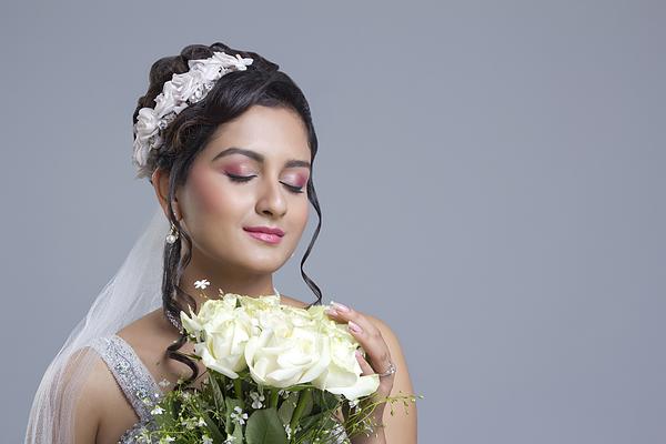 Portrait of a Bride Photograph by Sudipta Halder