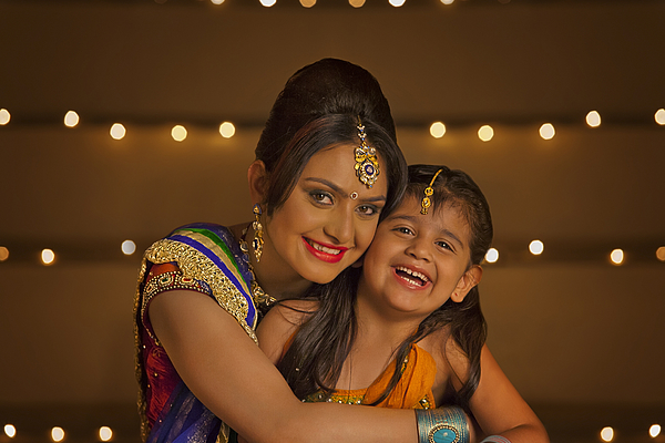 Portrait of mother and daughter Photograph by Hemant Mehta