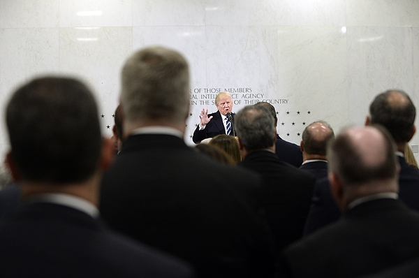 President Trump Speaks At CIA Headquarters Photograph by Pool