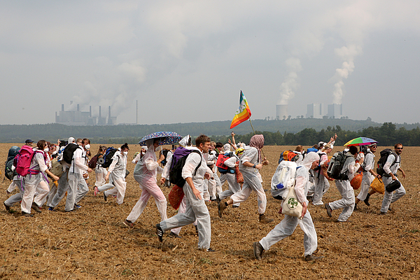 Protesters Converge On Rhineland Open-Pit Coal Mines Photograph by Omer Messinger