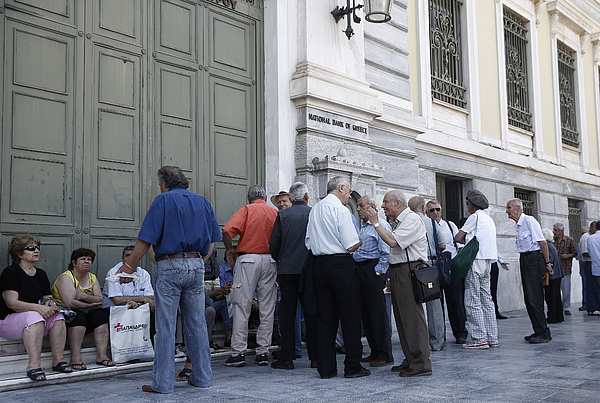 Reaction As Greece Imposes Capital Control Photograph by Bloomberg
