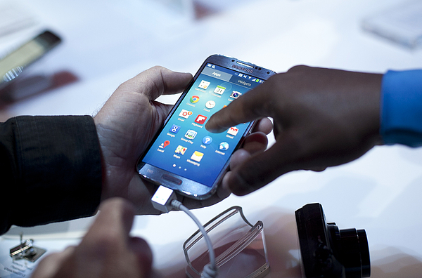 Samsung Debuts Its New Flagship Smartphone, The Galaxy S IV Photograph by Allison Joyce