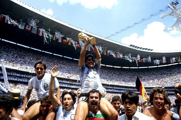 Soccer - 1986 FIFA World Cup - Final - Argentina v West Germany - Azteca Stadium, Mexico Photograph by Peter Robinson - EMPICS