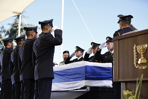State Funeral Held For Former Israeli President Shimon Peres Photograph by Pool