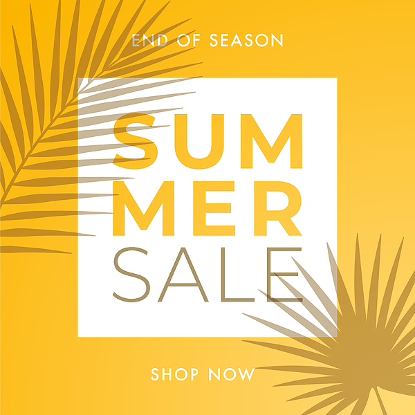 Summer Sale design for advertising, banners, leaflets and flyers. Drawing by Discan