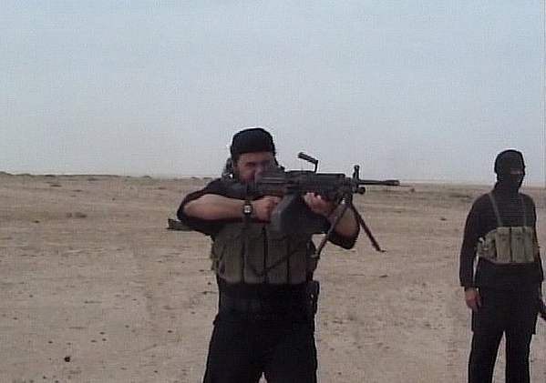 U.S. Military Releases Al-Zarqawi Video Photograph by Handout