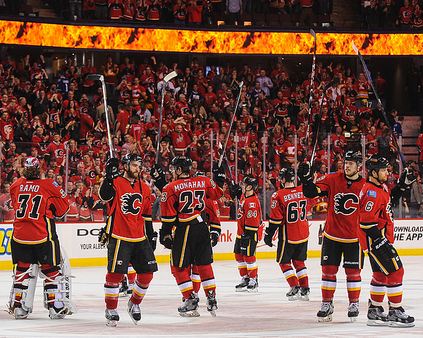 Vancouver Canucks v Calgary Flames - Game Three Photograph by Derek Leung