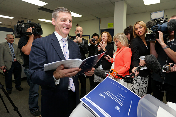 2014 New Zealand Budget Printed In Wellington Photograph by Hagen Hopkins