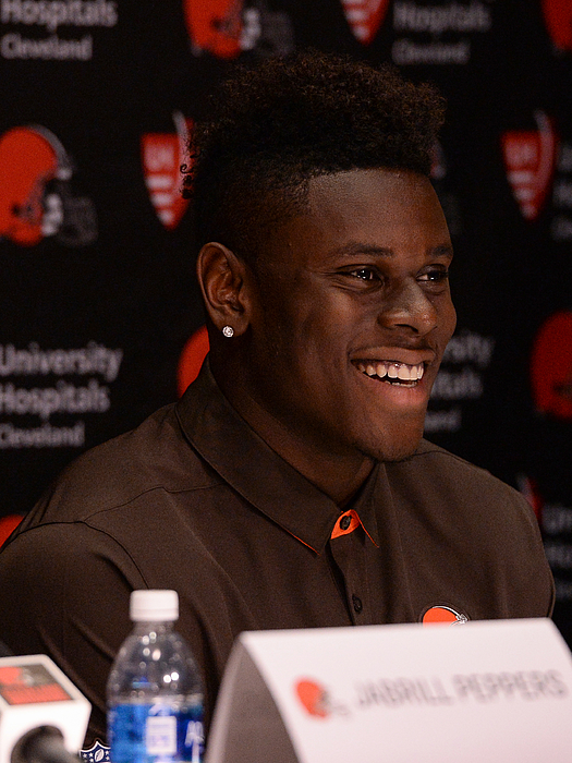 2017 Nfl Draft Cleveland Browns First Round Press Conference Photograph by Diamond Images