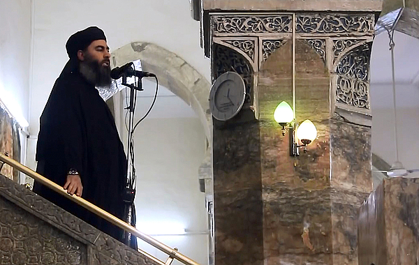 Alleged ISIL leader appears in video footage Photograph by Anadolu Agency