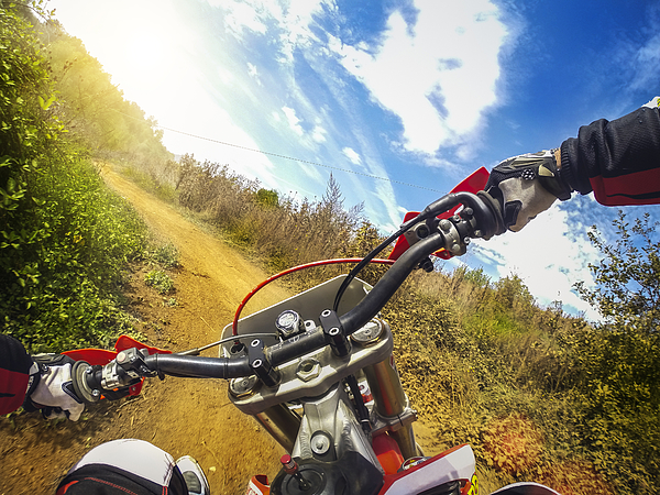 Enduro Motocross motorbike racing offroad Photograph by Piola666