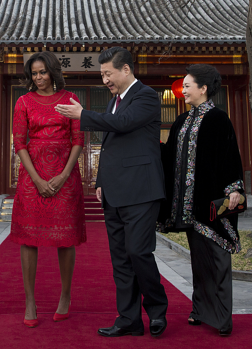 First Lady Michelle Obama Travels to China - Day 2 Photograph by Pool