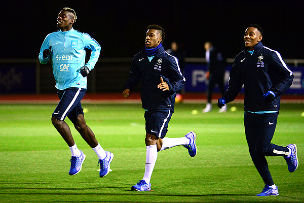 France Soccer Team Training Session At Clairefontaine Photograph by Frederic Stevens