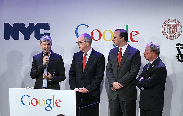 Googles Larry Page Holds Media Event In New York City Photograph by Justin Sullivan