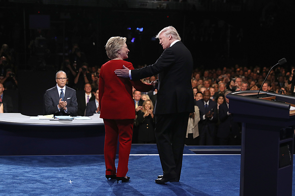 Hillary Clinton And Donald Trump Face Off In First Presidential Debate At Hofstra University Photograph by Joe Raedle