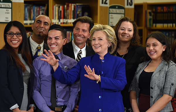 Hillary Clinton Holds Campaign Roundtable In Las Vegas Photograph by Ethan Miller