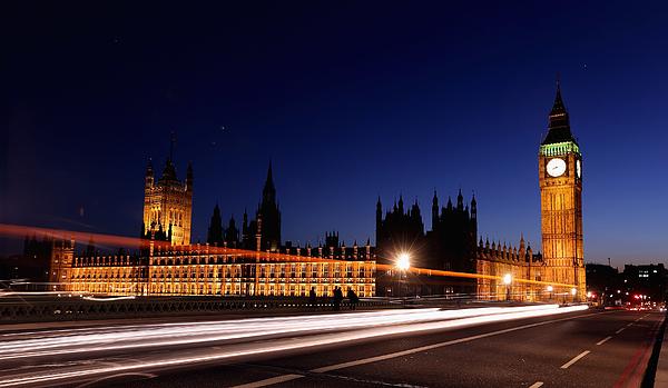 London Landmarks At Night Photograph by Oli Scarff