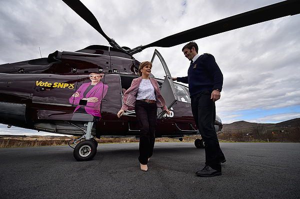 On Board Nicola Sturgeons Helicopter As She Flies To The Isle Of Skye Photograph by Jeff J Mitchell