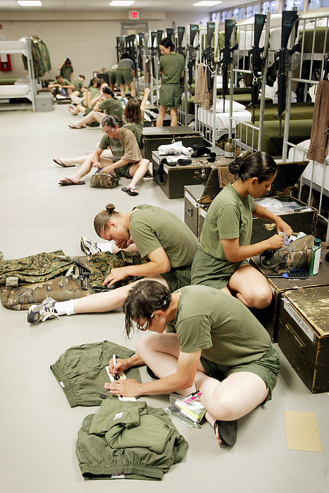 Women Train To Become U.s. Marines Photograph by Scott Olson