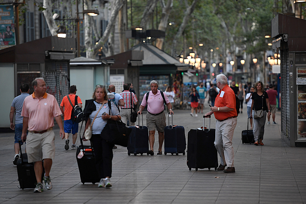 Aftermath Of The Barcelona Terror Attack Photograph by Carl Court