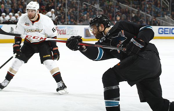 Anaheim Ducks v San Jose Sharks Photograph by Rocky W. Widner