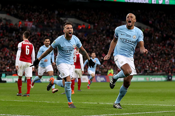 Arsenal v Manchester City - Carabao Cup Final Photograph by Catherine Ivill