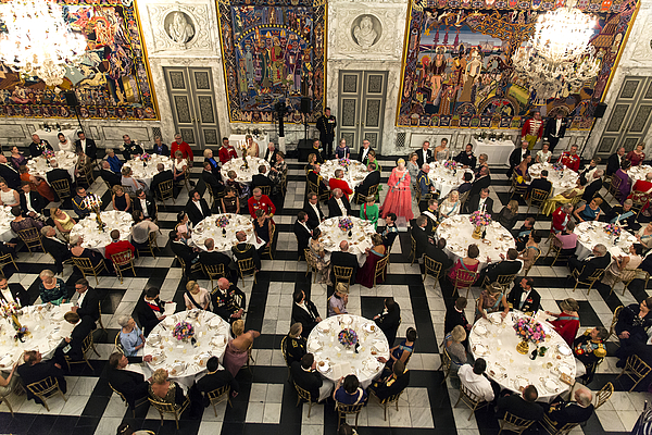 Crown Prince Frederik of Denmark Holds Gala Banquet At Christiansborg Palace Photograph by Ole Jensen