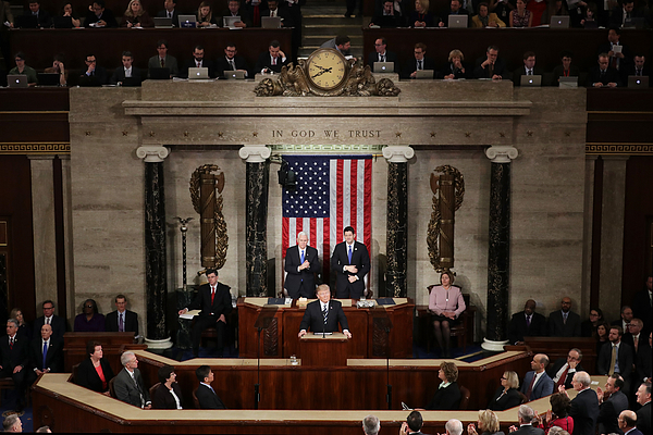 Donald Trump Delivers Address To Joint Session Of Congress Photograph by Chip Somodevilla