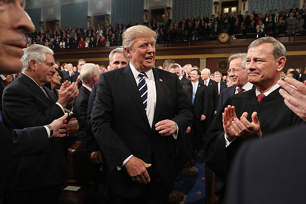 Donald Trump Delivers Address To Joint Session Of Congress Photograph by Pool